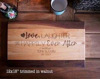 "12x18"", one inch thick premium cutting boards in walnut/cherry  anniversary, wedding, housewarming,  heirloom cutting board"