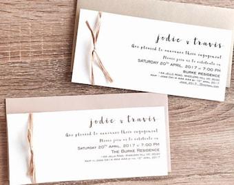 Personalised Engagement Invitation. Envelope