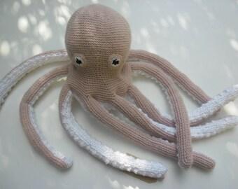 Plush squid OCTOPUS crochet