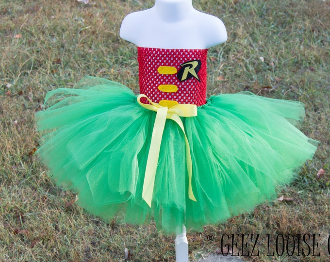 Robin Halloween Costume Tutu  inspired Bat-man Batgirl Girl Skirt Boutique Bows Clothing Baby Toddler Outfit