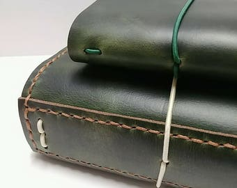 Genuine Leather Traveler's Notebook -  Lush Forest