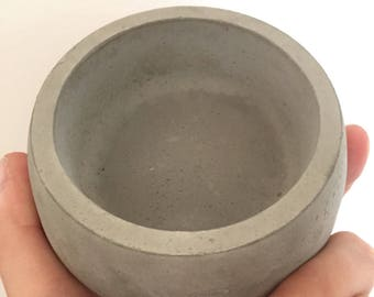 Concrete bowl storage pot dish