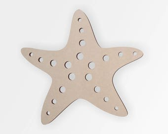 Wooden Shape Starfish, Wooden Cut Out, Wall Art, Home Decor, Wall Hanging