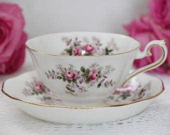 Royal Albert Lavender Rose Avon Tea Cup and Saucer Vintage teacup and saucer set gift for her  avon teacup and saucer