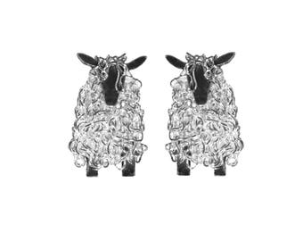Silver Wensleydale sheep stud earrings, Sheep Earrings, Wensleydale Sheep, Yorkshire Present, Yorkshire, Wensleydale, Sheep Jewellery, Sheep