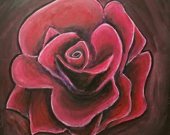 Tattoo Rose (Original Painting)