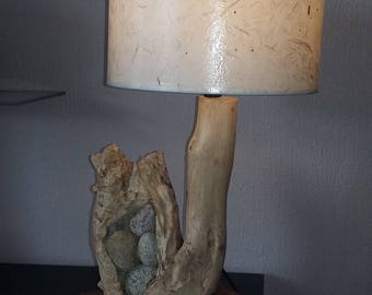 "Driftwood lamp ""Cave"""