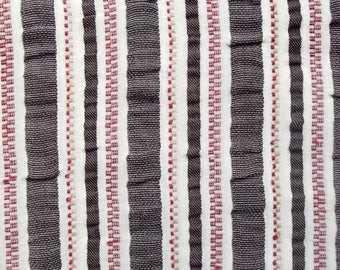 Stripes way cheich polyester cotton fabric (coupon 165 x 52 cm)
