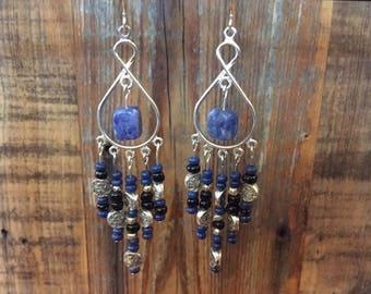Sodalite Chandelier Earrings