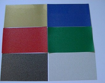 Glitter Fabric Clothing Iron on T - Shirt Vinyl Transfer sheets 20cm x 12cm T - Shirt Transfer Sheets