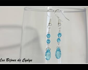 Earrings and its drop turquoise with its tops