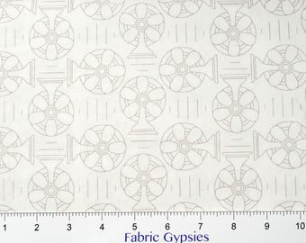 """Riley Blake Designs """"Bee Backgrounds"""" By Lori Holt ~Backgrounds COOL (Fans) ~ C6390-GRAY ~ Low Volume ~ Half Yard Increments"""