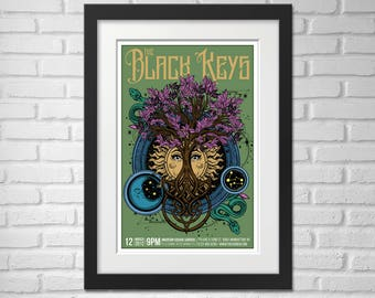 The Black Keys Concert Poster - Illustration [The Black Keys Poster / The Black Keys / Madison Square Garden, NYC - March 12, 2012]