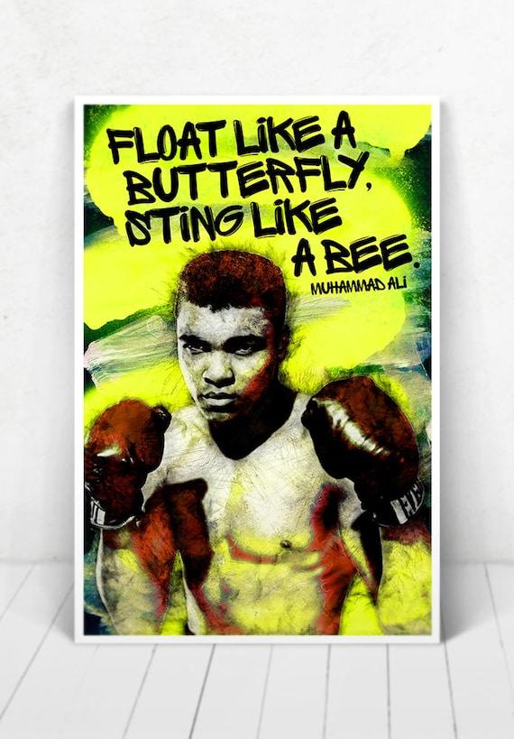Muhammad Ali POSTER - Illustration / Muhammad Ali Poster / Muhammad Ali / Cassius Clay / Boxing