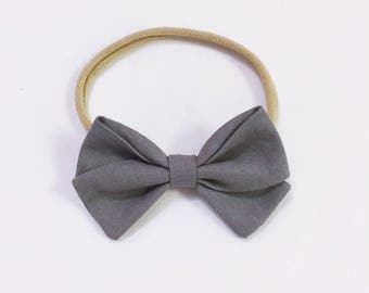 Dark grey bow headband