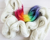 Lady Rainicorn - Adventure Time themed hand dyed yarn - 100g sparkle sock yarn - superwash merino wool