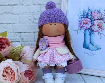 Tilda doll Textile doll Interior Fabric Doll  Soft Cloth doll art doll handicraft toy Beautiful doll girl gift Collectable rag Interior doll