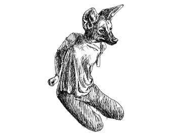 Maned Wolf Woman - Print