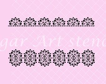 Cookie stencil lace border trim band NB700212