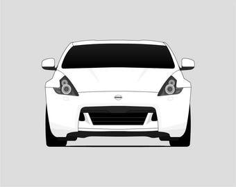 Nissan 370Z Poster // Nissan Print // Z Car