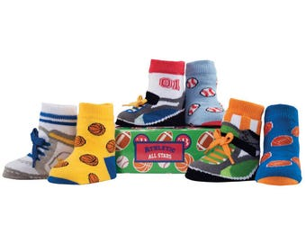 Beautiful Multicolour Athletic Sports Team Baby Socks 6 Pack