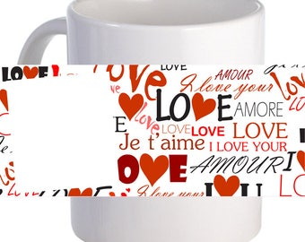"""Personalized """"Love Text""""  Coffee Mug Beautiful Gift For Loved Ones"""