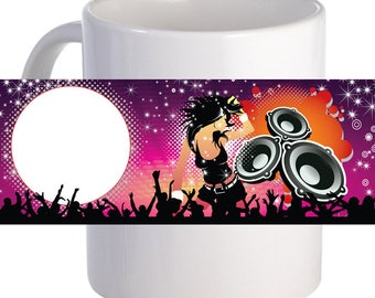 Music Party Beautiful Coffee Mug Personalized With Name, Image