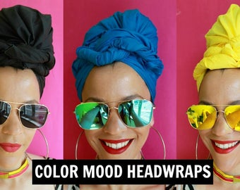 Color Mood Headwrap + Sunglasses Set | Colorful Headwraps | Headscarves | Headwraps for Women