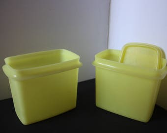 Vintage Tupperware, Yellow Tupperware, Storage containers, Food storage containers