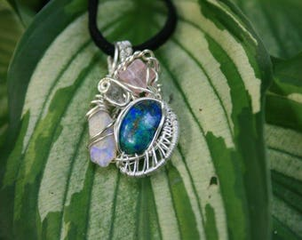 Cluster of color pendant #1