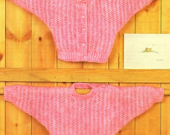 Baby / Childrens Sweater And Cardigan, Knitting Pattern. PDF Instant Download.