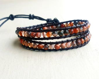 Bracelet mixed natural stones