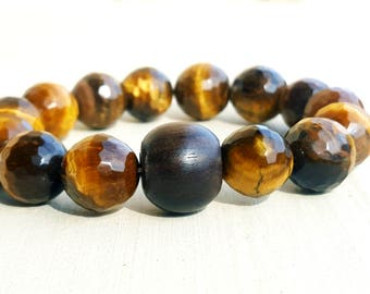 Bracelet mixed Tiger eye