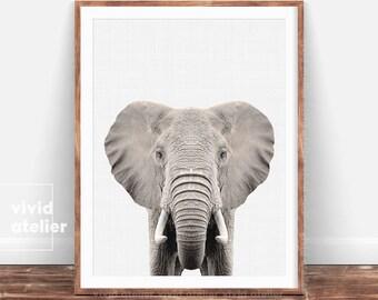Elephant Print, Nursery Animal Print, Kids Room Decor, Safari Baby Shower, Kids Room Art Print, Boys Room, Safari Nursery Wall Art Decor