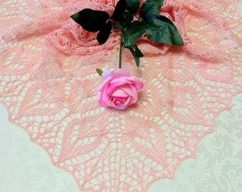 """Ажурная шаль """"Розы"""" Most tender delicate shawl of """"Rosa"""""""