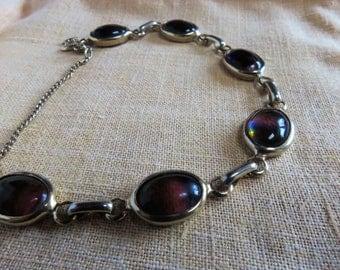 Vintage Liz Clairborne amethyst stone bracelet