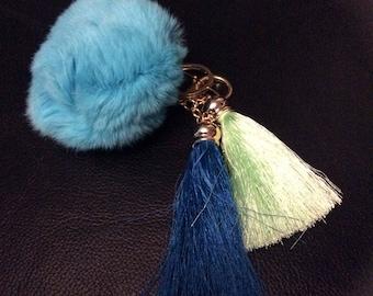 Keychain fur tassel ball of fur 8cm diameter