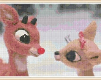 Rudolph The Red Nose Reindeer - Rudolph Cross Stitch Pattern - PDF Downloas