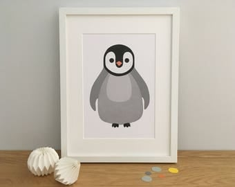 Penguin Nursery Print, Penguin Art Print, Penguin Wall Art, Penguin Personalised Print, Personalized Penguin Print, Penguin Nursery, Baby