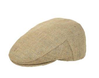 """Upcycling flat Cap Flatcap """"Café espresso""""-subject """"Plain"""" (size: 58 cm)"""