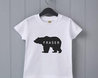 Personalised Bear Childrens T Shirt