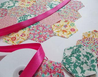 50 Liberty Tana Lawn Precut Hexagons - 10 of each design