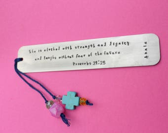 Bible Bookmark Personalized Bookmark Bible Verse Bookmark Custom Bookmark Metal Bookmark Confirmation Bookmark First Communion Bookmark