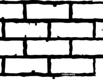 Fusion Stencil 22 - Large Brick - Furniture or Wall Stencil