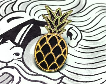 Neon Pineapple Enamel Pin