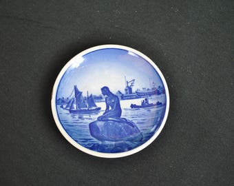 Danish Hand Painted Minature Delft Decorative Wall Plate