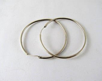 Old silver hoop earrings