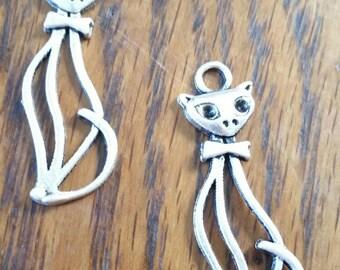 Lot 2 filigree big cat charms