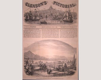 Susquehanna River Railroad Bridge – Harrisburg - Pennsylvania   – 1853