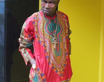 Dashiki Shirt - African Top - Festival Clothing - Dashiki Top - African Two Piece - African Shirt - Festival Clothing - Festival Shirt